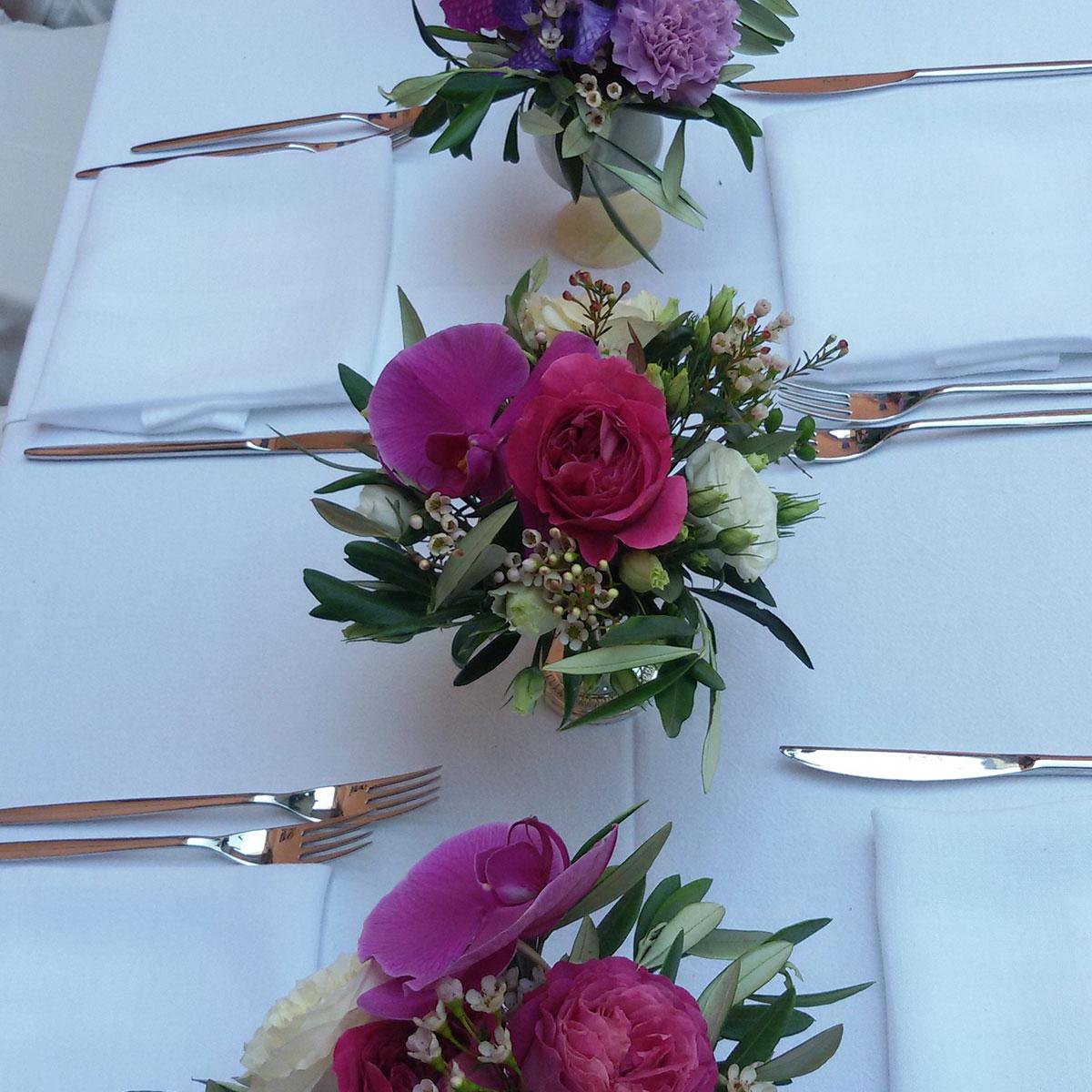 Centrotavola con fiori | Negriricevimenti.com